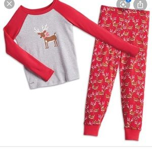 American Girl Festive Reindeer Pajamas Size 8